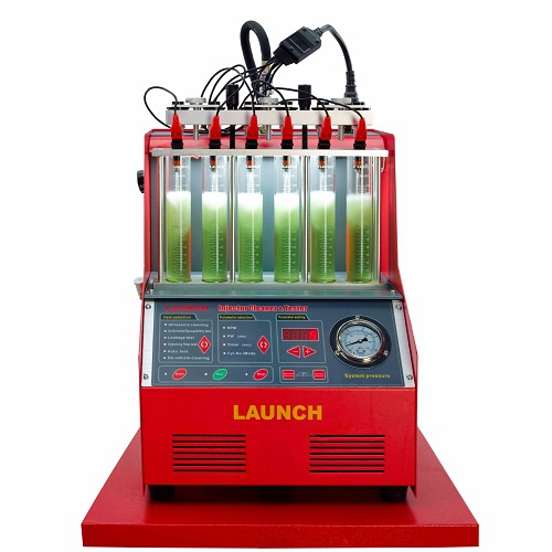 6 Cylinders Fuel Injector Cleaner Machine , High Efficiency Launch CNC602A Tester