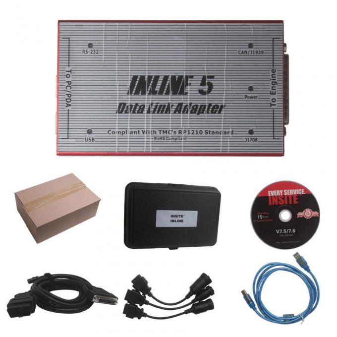 Red Truck Diagnostic Tool Cummins INLINE 5 INSITE 7.62 Data Link Adapter